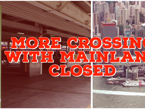 Hong Kong to shut almost all crossings with mainland China