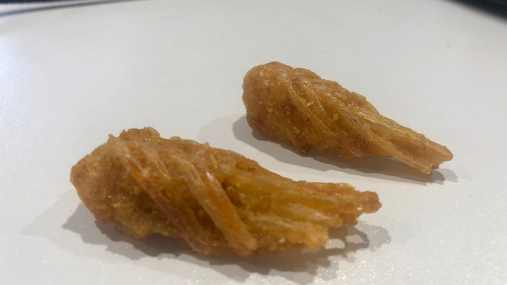 Salted egg yolk shrimp head