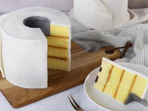 Toilet Paper Cake available at Hong Kong Bakery