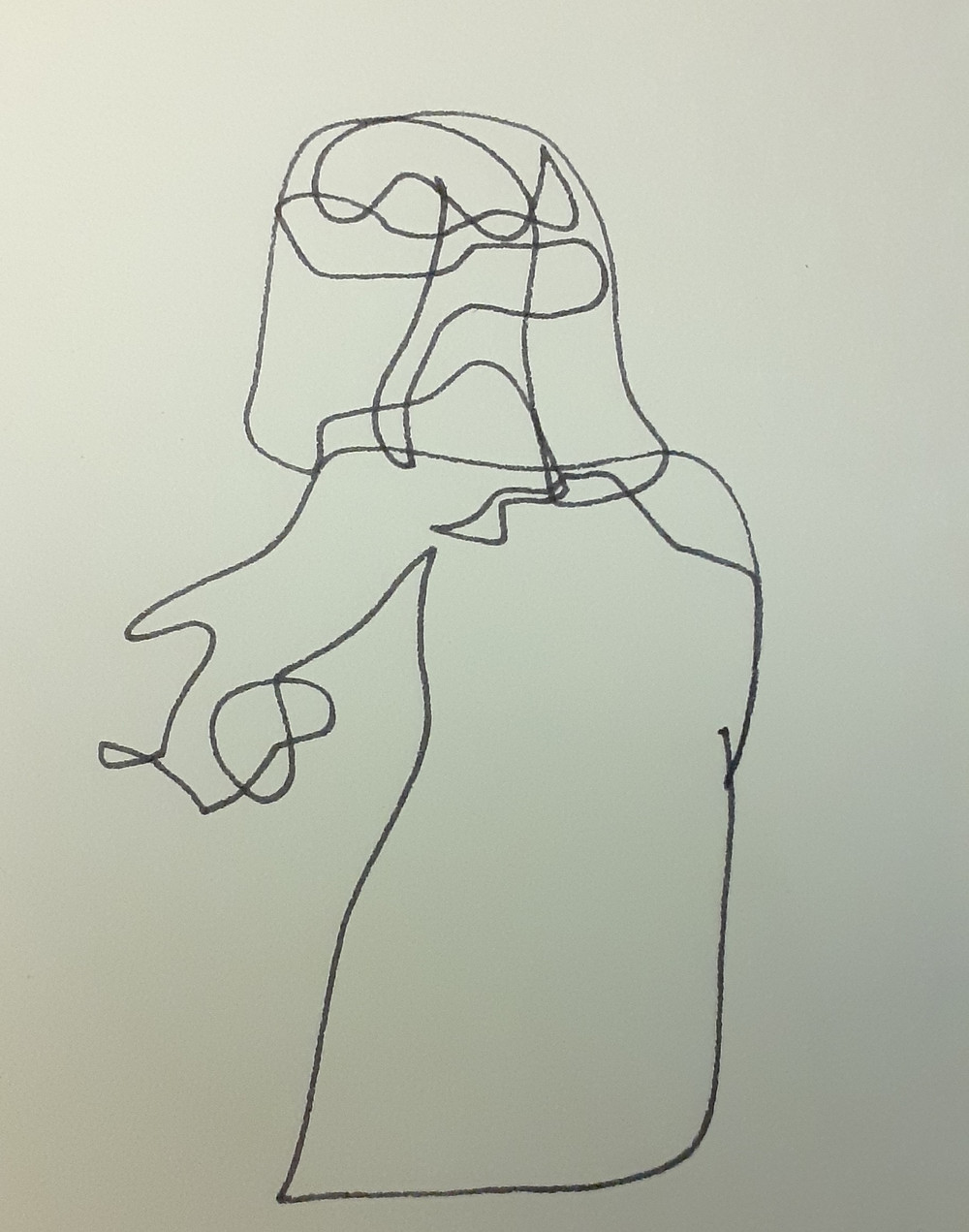 """Un personaggio di """"Teatro Delusio"""". Disegno di Gaia Macassaro"""