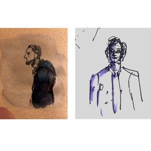 Gionata e Saul nei disegni di Linda Nuzzolo e Anna Pennini