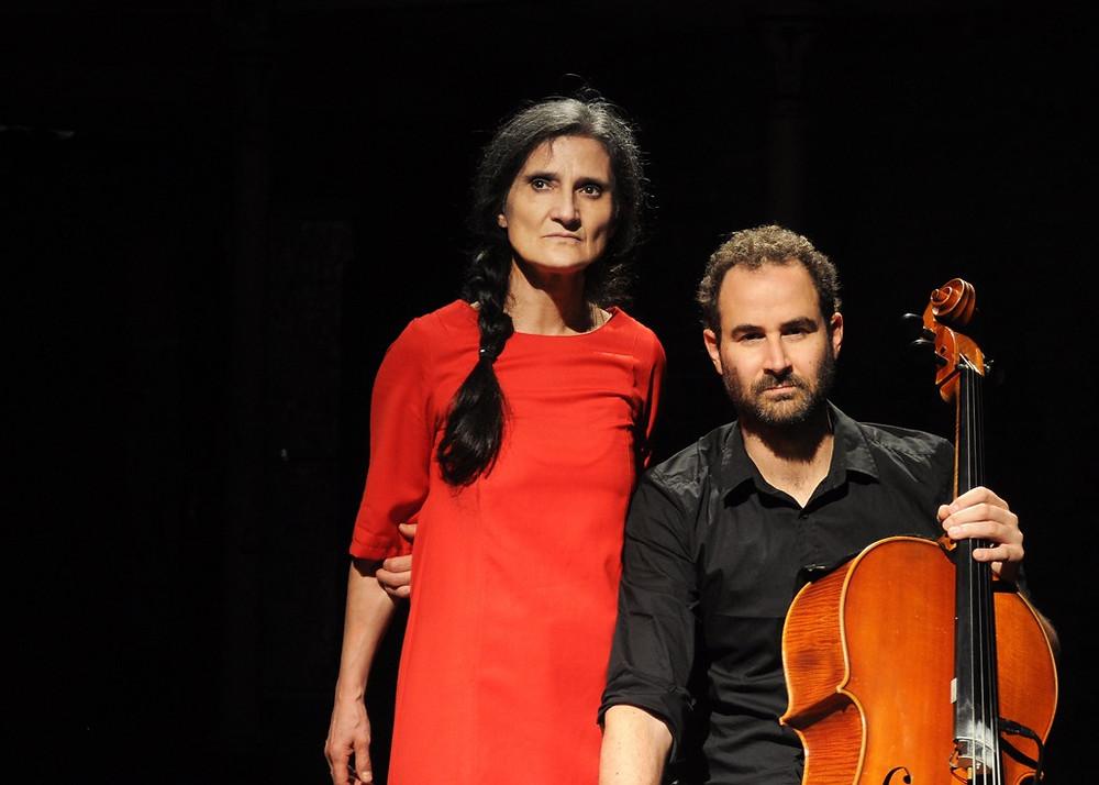 """Chiara Guidi e Francesco Guerri in """"Esercizi per voce e violoncello sulla Divina Commedia di Dante"""""""