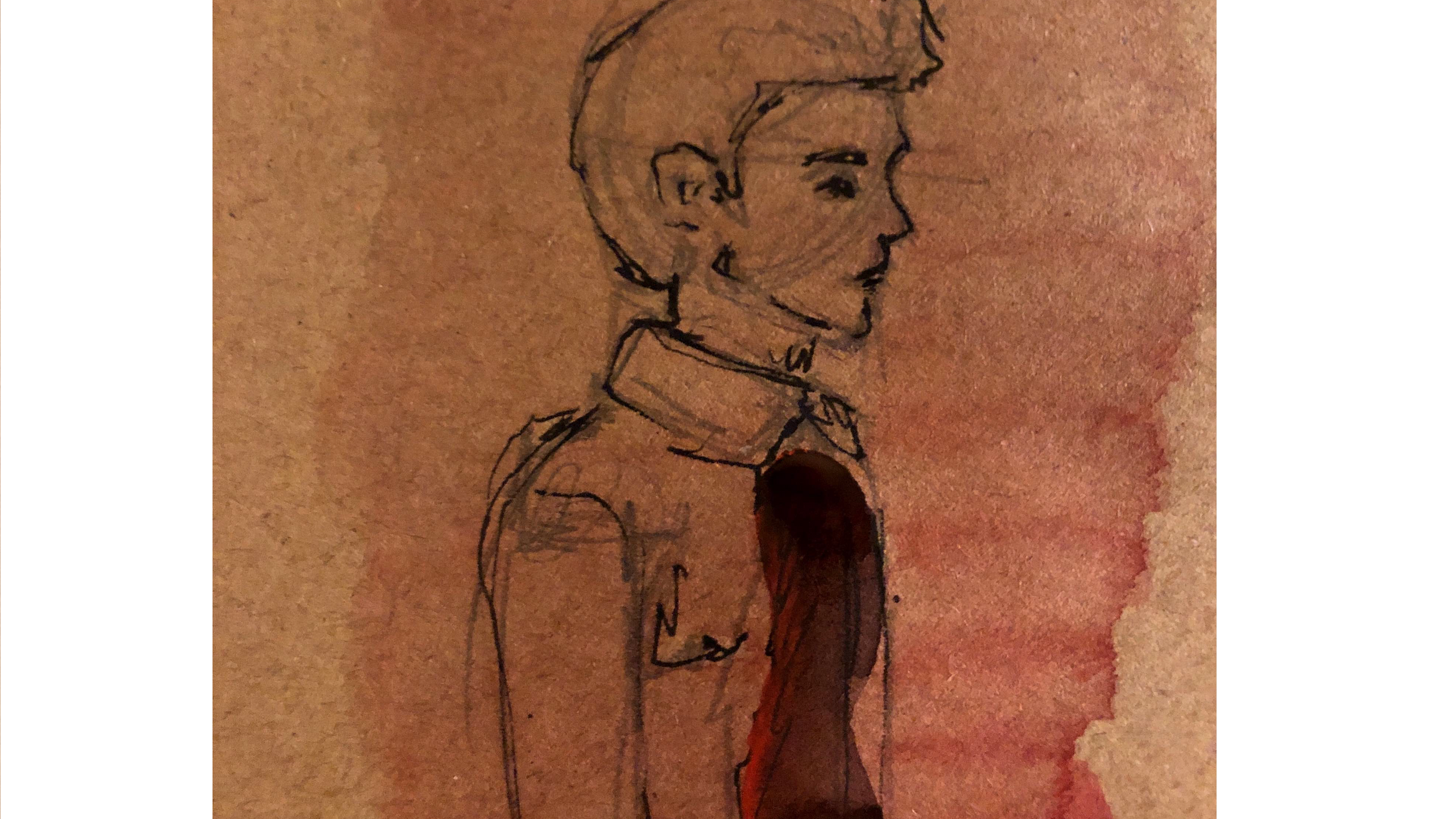 David nel disegno di Linda Nuzzolo