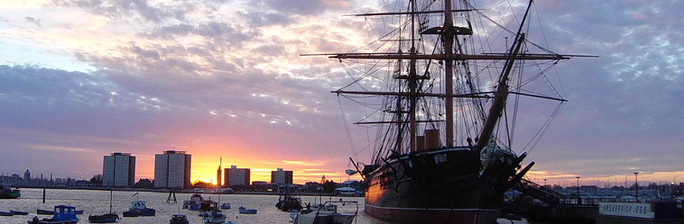 HMS Warrior 1860. A former office of mine, both beautiful and deadly, Britain's first Iron Hulled Warship.
