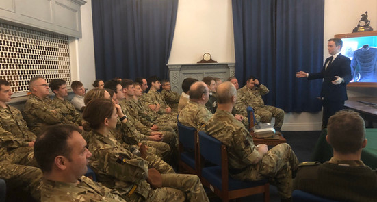 A lecture to: B Squadron RWxY & RHQ of the only Armoured Reservist Regiment, on the Yeomanry's history and Cavalry at Waterloo