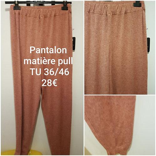 Pantalon matière pull