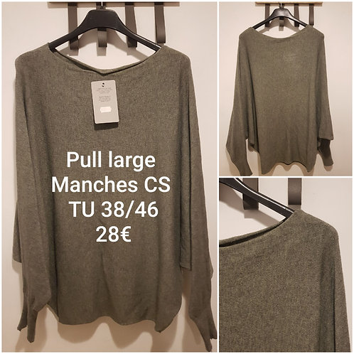 Pull large tout doux col rond