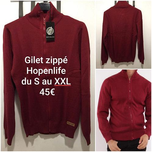 Gilet zippé Hopenlife