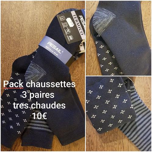 Pack 3 paires de chaussettes