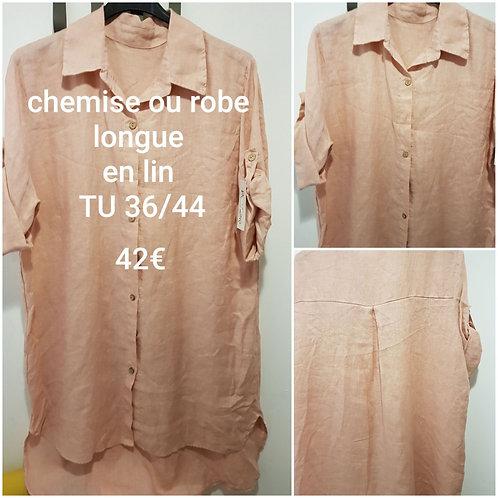 Chemise ou robe en lin