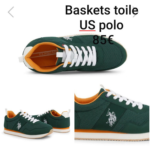 Baskets en toile US polo