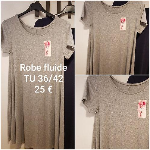 Robe classique fluide grise