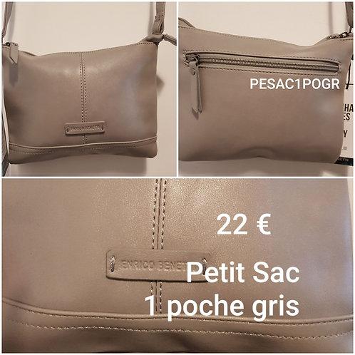 Petit sac gris 1 poche