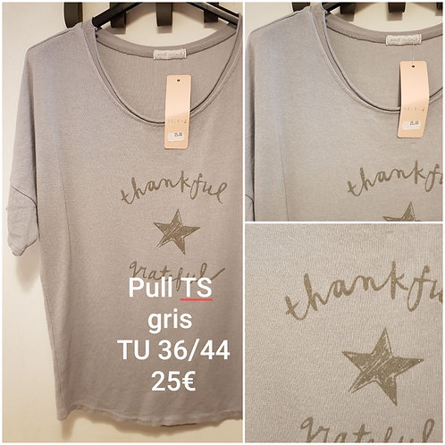 Pull TS gris