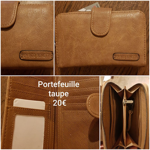 Portefeuille taupe