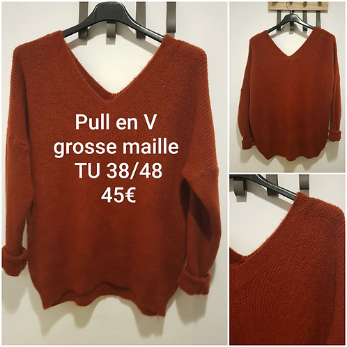 Pull lainage ultra doux rouille