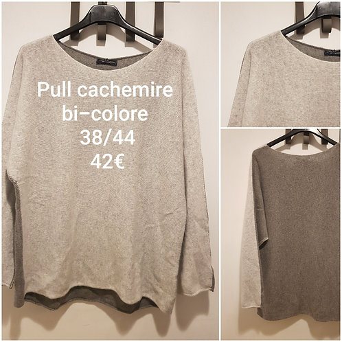 Pull bicolore cachemire