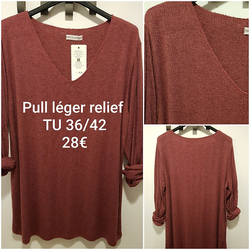 Pull tout doux relief