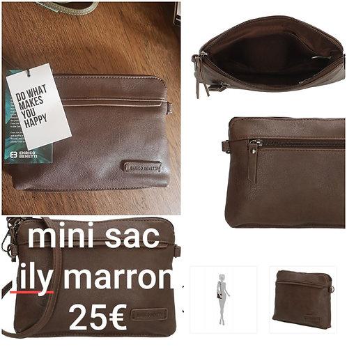 Mini sac lily marron