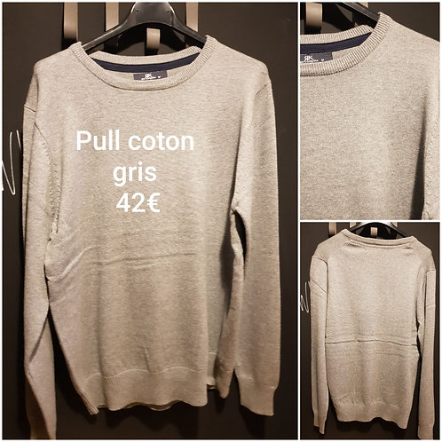 Pull coton gris