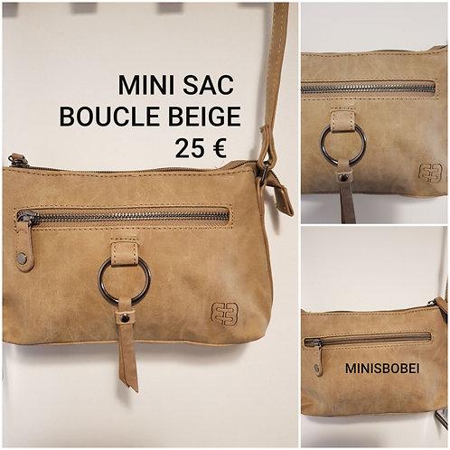 Mini sac boucle beige
