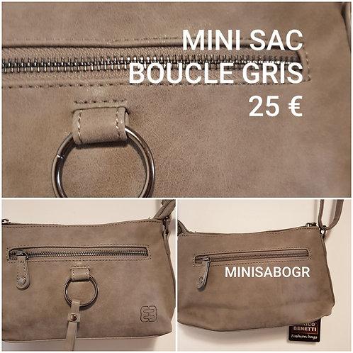 Mini sac boucle gris