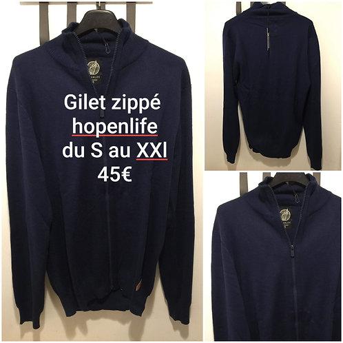 Gilet zippé Hopenlife marine