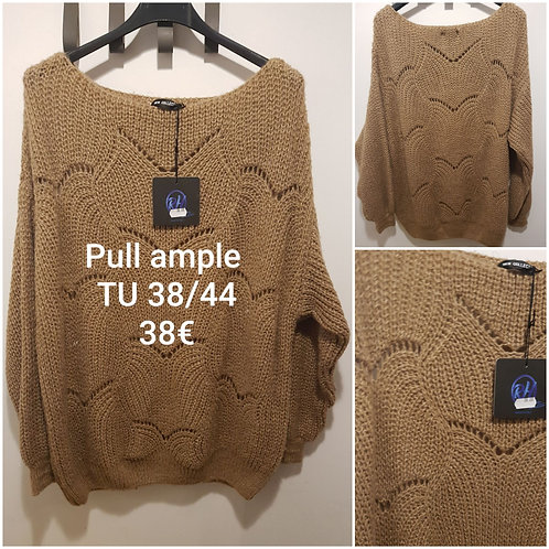 Pull grosse maille ample