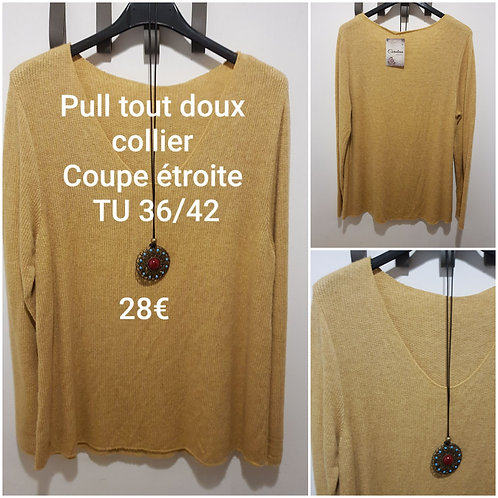 Pull coupe étroite moutarde