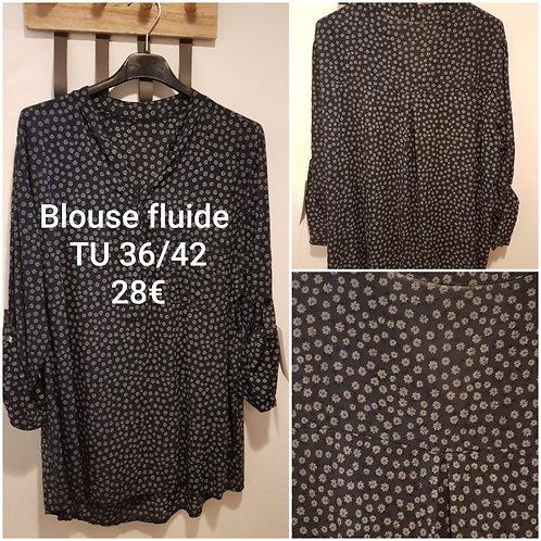 Chemise blouse fleurie