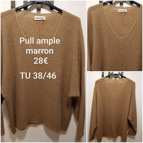 Pull ample marron