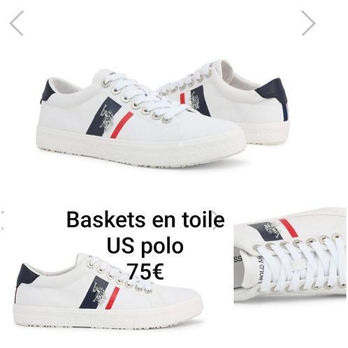 Baskets en toile US polo