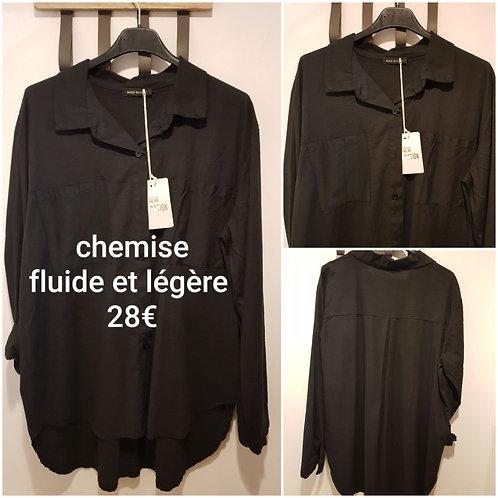 Chemise blouse noire coton