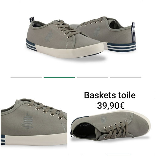 Baskets grises en toile