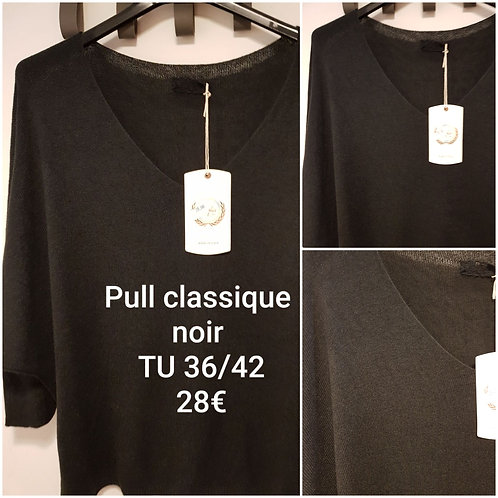 Pull manches 3/4 noir