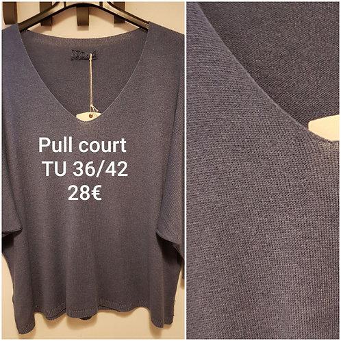 Pull manches 3/4 bleu