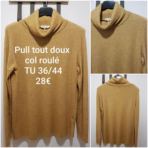 Pull chaud col roulé