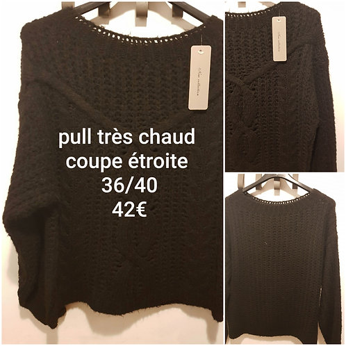 Pull grosse maille coupe étroite