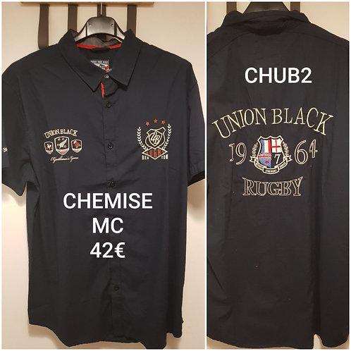 Chemise Union.black manches courtes