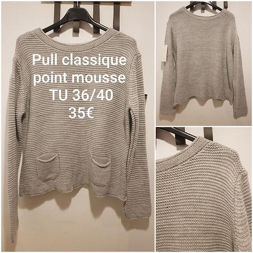 Pull classique point mousse