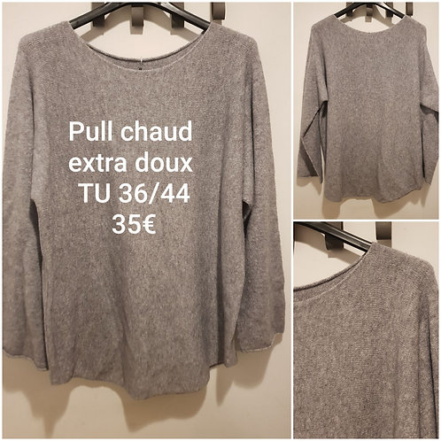 Pull chaud ultra doux gris
