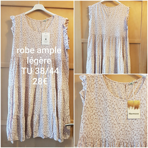 Robe ample fluide rose