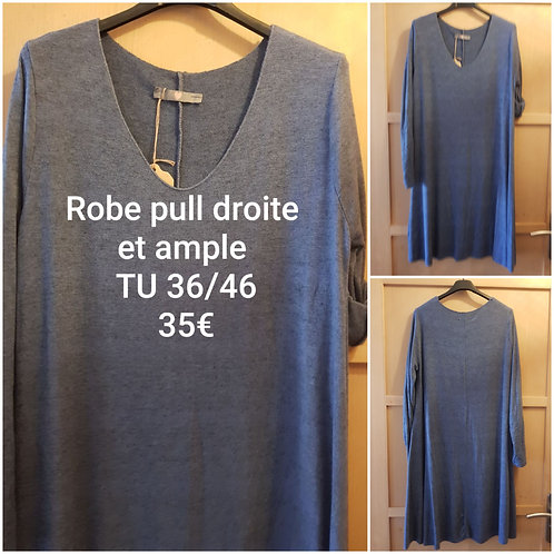 Robe pull droite jeans