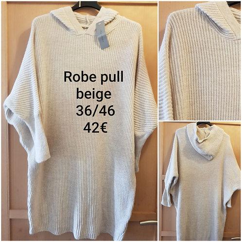 Robe pull ample beige