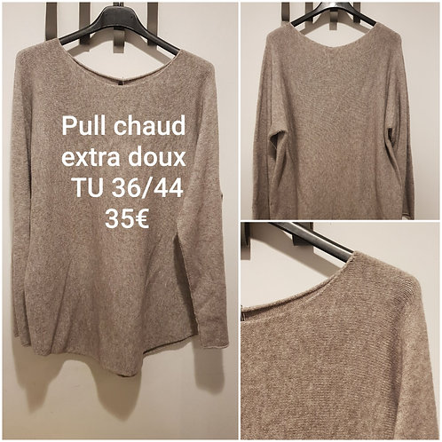 Pull chaud ultra doux taupe