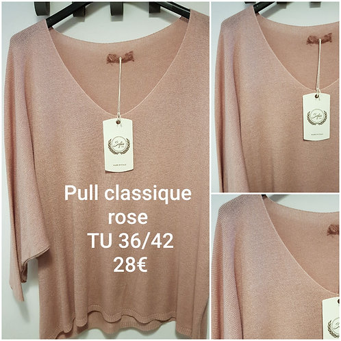 Pull manches 3/4 rose