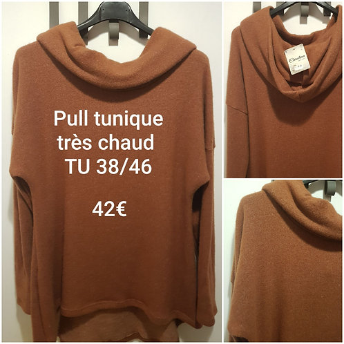 Pull tunique chaud