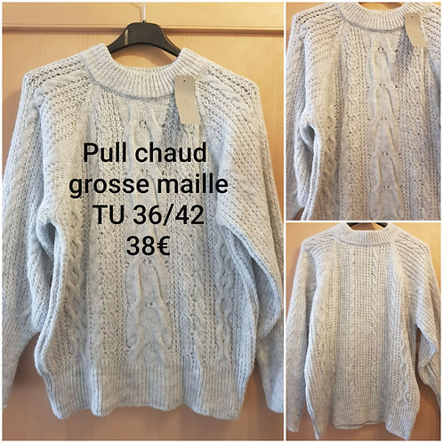 Pull grosse maille chaud