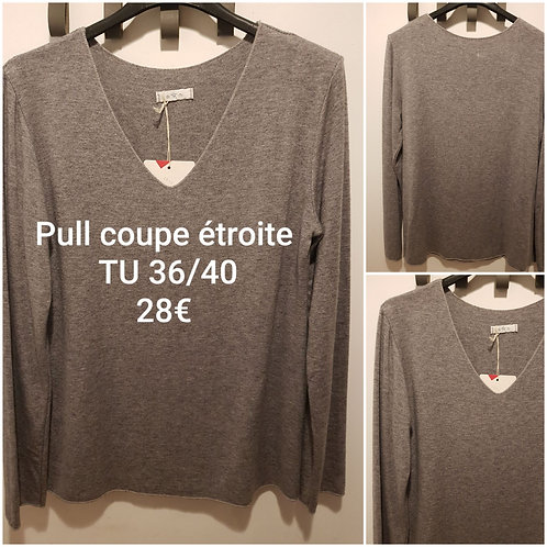 Pull coupe étroite