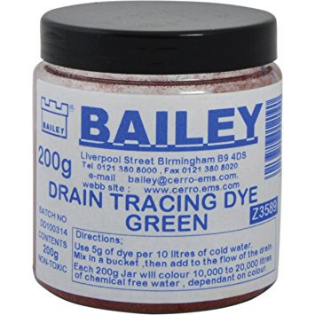 Bailey Drain Tracing Dye